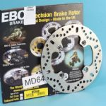 DAYTONA 955i 1998~04. T509 1997~01: Rear Disc EBC MD648 ABE/TuV: +PLUS 4 Free Stainless Steel Disc Bolts!
